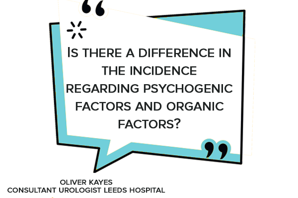 Is there a difference in the incidence regarding psychogenic factors and organic factors