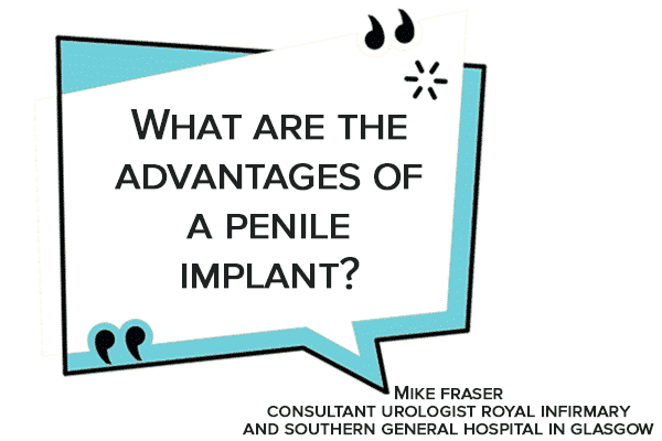 What are the advantages of a penile implant?