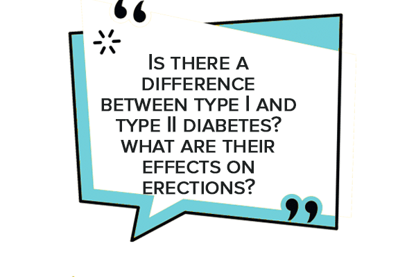 different type of diabetes and what are their effects on erections