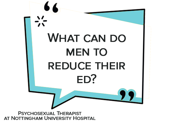 what can do men to reduce their ed