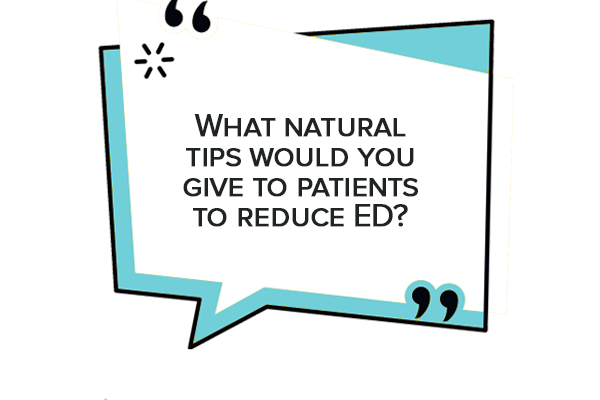 What natural tips would you give to diabetic patients to reduce ED