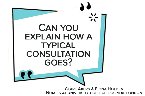 Can you explain how a typical consultation goes